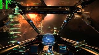 Star Citizen with Steam controller and pedals, Hornet with M6A