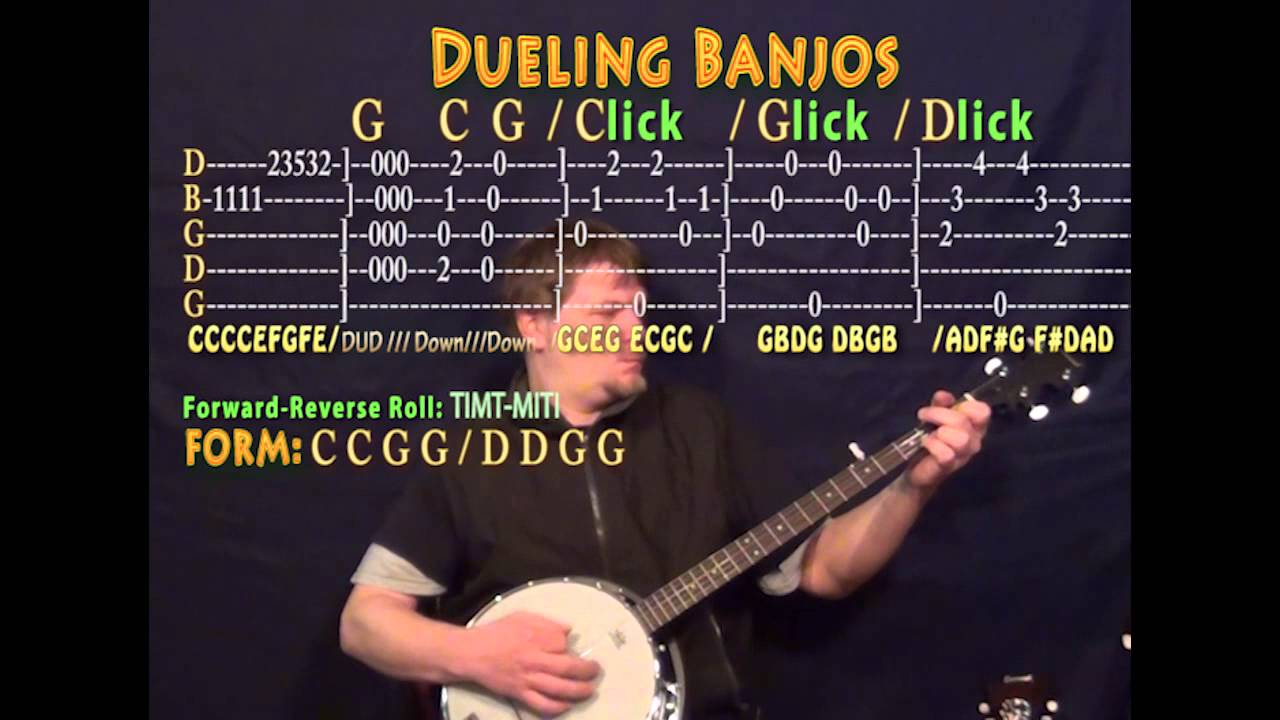 dueling banjos banjo cover lesson with tab youtube. Black Bedroom Furniture Sets. Home Design Ideas