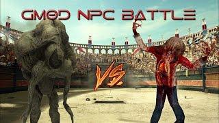 HALO FLOOD VS ZOMBIES! (GMOD NPC BATTLE)