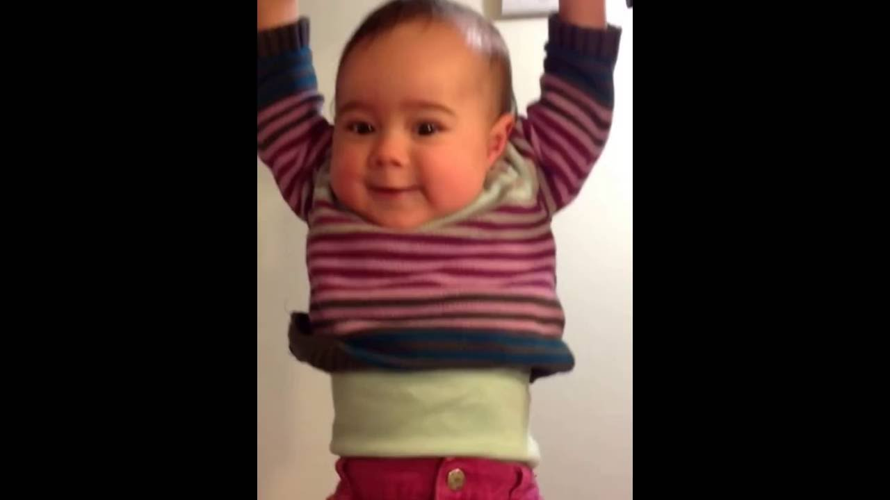 Strong Baby Hanging From Pull Up Bar At 9 Months Youtube