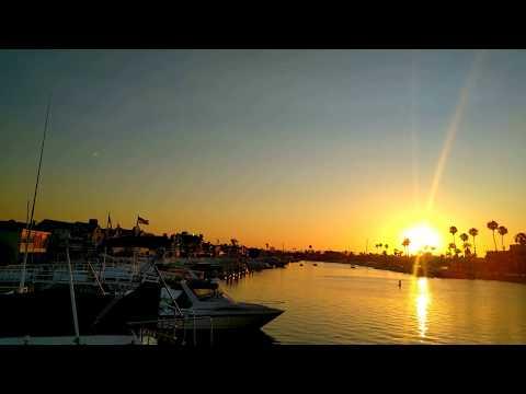 { 4K } Beautiful Sunset - Long Beach , Mothers Beach