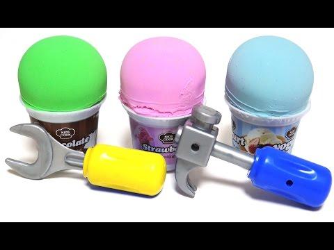 Kinetic Sand Ice Cream Surprise Toys Disney Princess Hulk Marvel Superhero Learn Colors