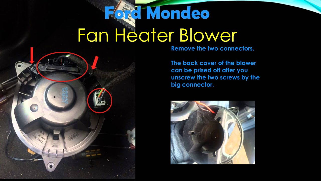 Ford mondeo heater blower youtube for Heater blower motor not working