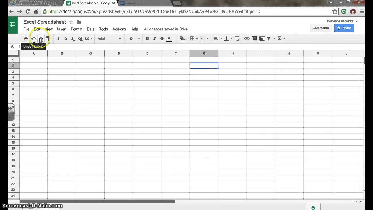 how to make a spreadsheet on google drive