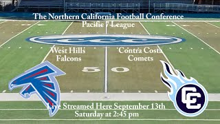 9/13/14 College Football West Hills Falcons vs Contra Costa Comets
