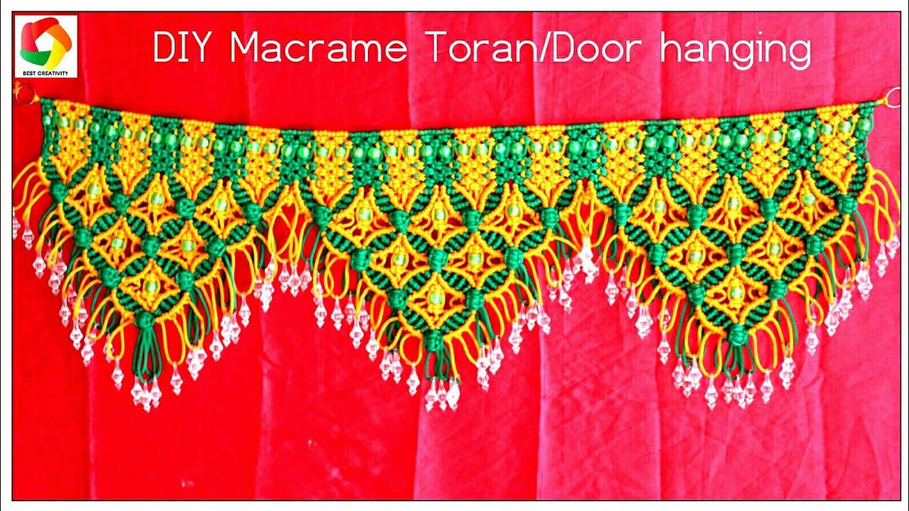 Door Hanging Designs door hangingtoran indian touchdecorative plates pinterest craft Diy Tutorial Handmade Macrame Toran Door Hangingdesign3how To Make Macrame Torandoor Hanging Hd