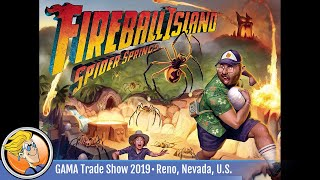 Fireball Island: The Curse of Vul-Kar – Spider Springs — game overview at GAMA Trade Show 2019