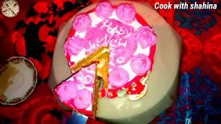 Vanilla cake recipe||homemade vanilla cake||how to make vanilla cake||Cook with shahina