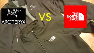 North Face [HD] Apex Bionic Pneumatic vs Arcteryx Soft Shell Jacket