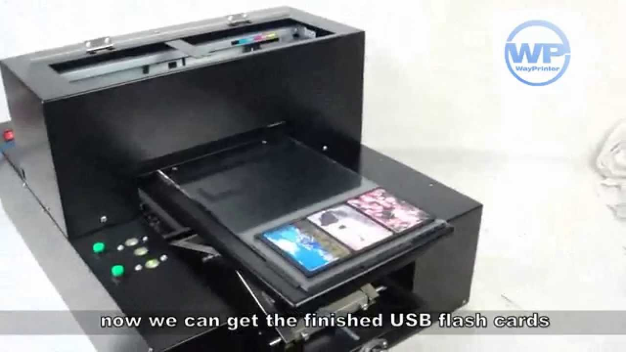 Digital inkjet usb credit card flash drive flatbed printer youtube magicingreecefo Image collections