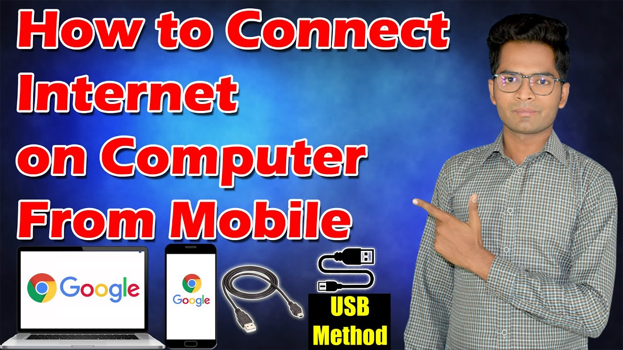 How to Connect Internet From Mobile to Computer via USB Cable | USB Tethering