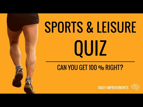 Sports & Leisure Stay At Home Quiz - General Knowledge Trivia