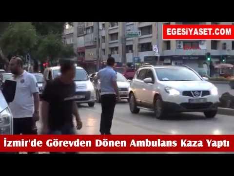 İzmir'de Görevden Dönen Ambulans Kaza Yaptı: 6 Yaralı