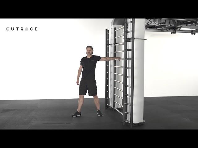 Gym Ladder Cross Anterior Chain Stretch