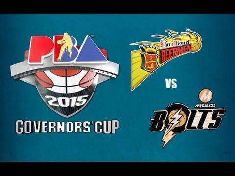 2015 PBA Governor's Cup Quarterfinals: San Miguel vs. Meralco Game 2