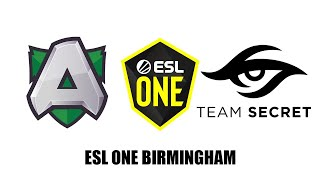 SECRET vs ALLIANCE - ESL One Birmingham 2020 - DOTA 2 LIVE - EU/CIS PLAYOFFS - UPPER BRACKET