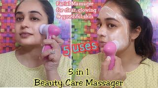 HOW TO USE FACIAL MASSAGER / 5 IN 1 BEAUTY MASSAGER/ REVIEW & DEMO/ FACIAL MASSAGE / StyleAndStrike