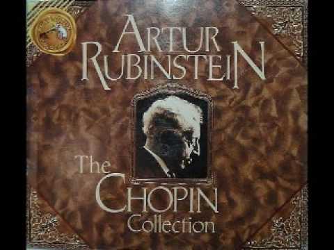 Arthur Rubinstein - Chopin Mazurka, Op. 68 No. 3