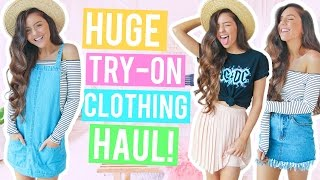 HUGE TRY ON Clothing Haul 2017! Affordable + Cute Clothes! Boohoo Haul!
