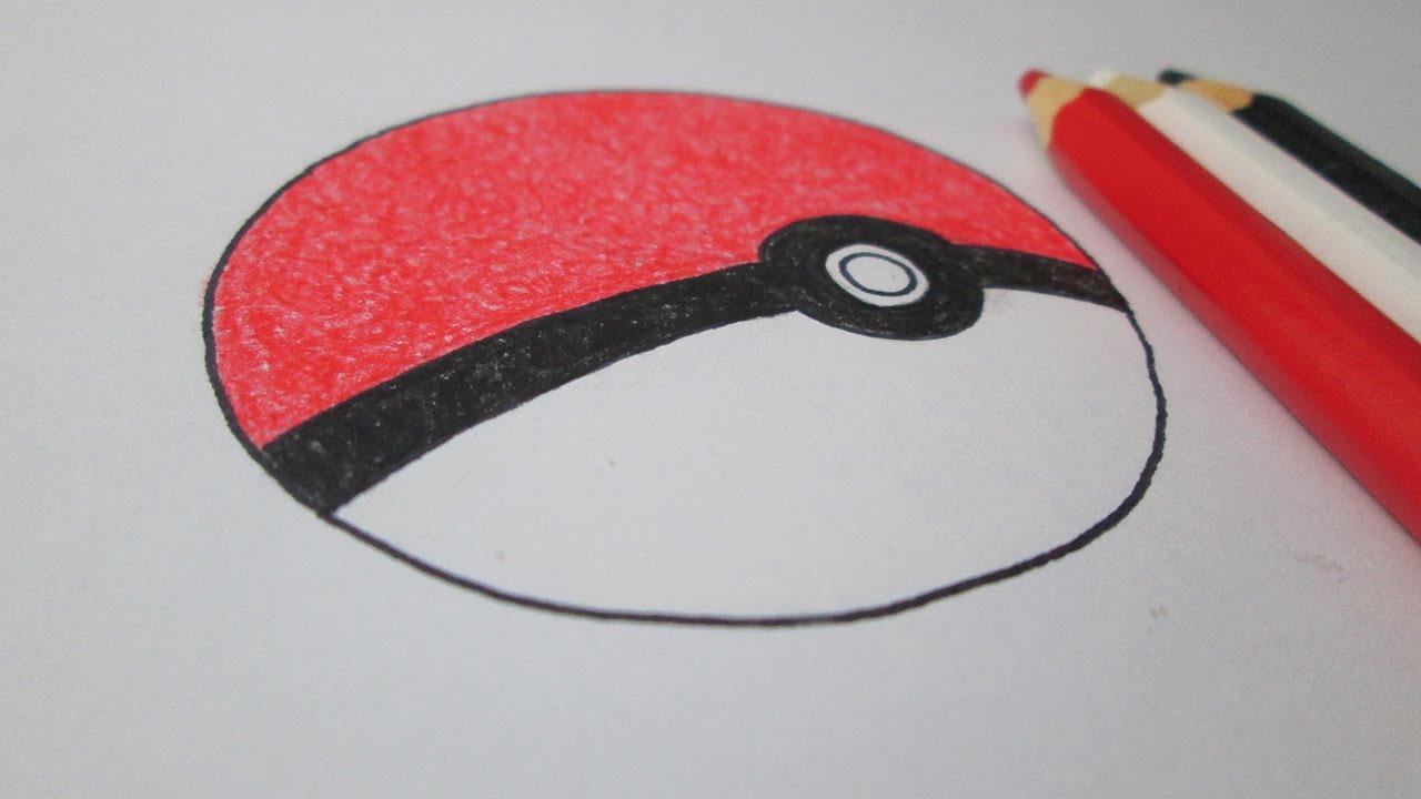Como Desenhar Uma Pokebola De Pokemon Youtube