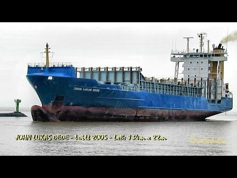 JOHN LUKAS DEDE V2BH2 IMO 9326952 Emden Germany container ship merchant vessel Containerschiff