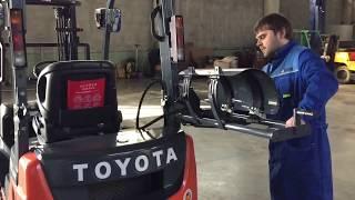 Обзор вилочного погрузчика Toyota 15, интерьер, экстерьер, #trialtrucks.ru