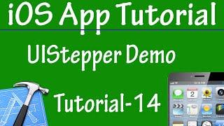Free iPhone iPad Application Development Tutorial 14 - UIStepper Control in iOS App