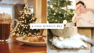 A Cosy Winters Day In My Cottage ~  Sleepy Kitten Cuddles, Hot Chocolate & Writing Christmas Cards