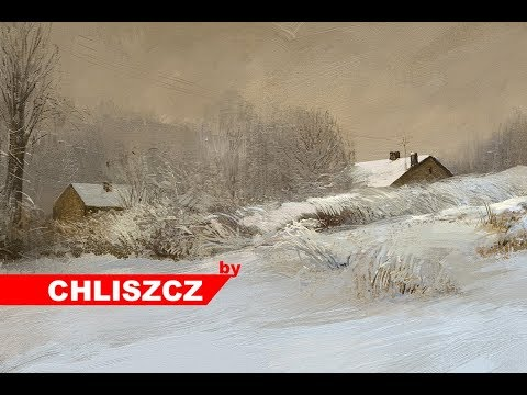 Photoshop painting – Winter Landscape