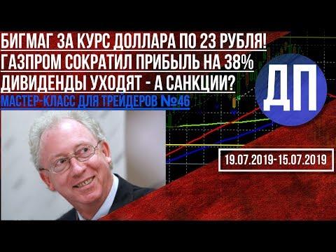 Бигмаг за курс доллара по 23 рубля! Газпром сократил прибыль на 38% Дивиденды уходят, а санкции