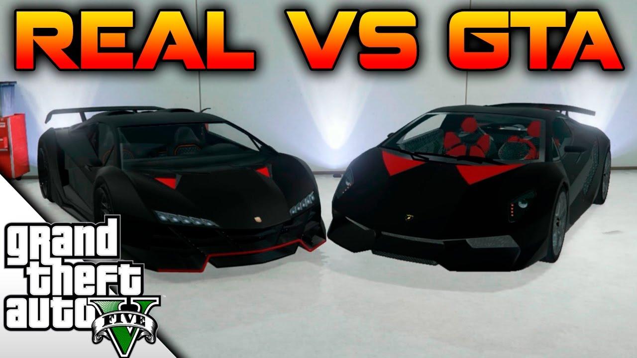 Real Vs Gta Lamborghini Sesto Elemento Vs Zentorno Braxxter
