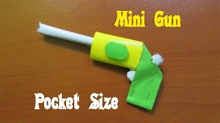 How to Make a Paper Pocket Mini Gun that Shoots Rubber band