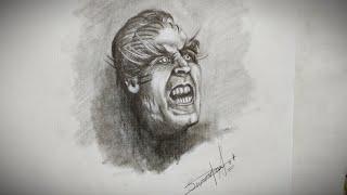 Portrait sketch of Akshy Kumar from Robot 2.0 / Sourav Pan Art