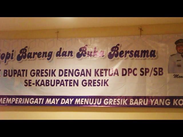 Kapolres Gresik Bersama Forkopimda Melaksanakan Ngopi dan Bukber Bareng SP/SB Dalam Rangka May Day
