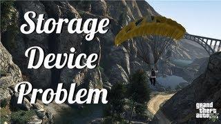 Grand Theft Auto V - Storage Device Problem