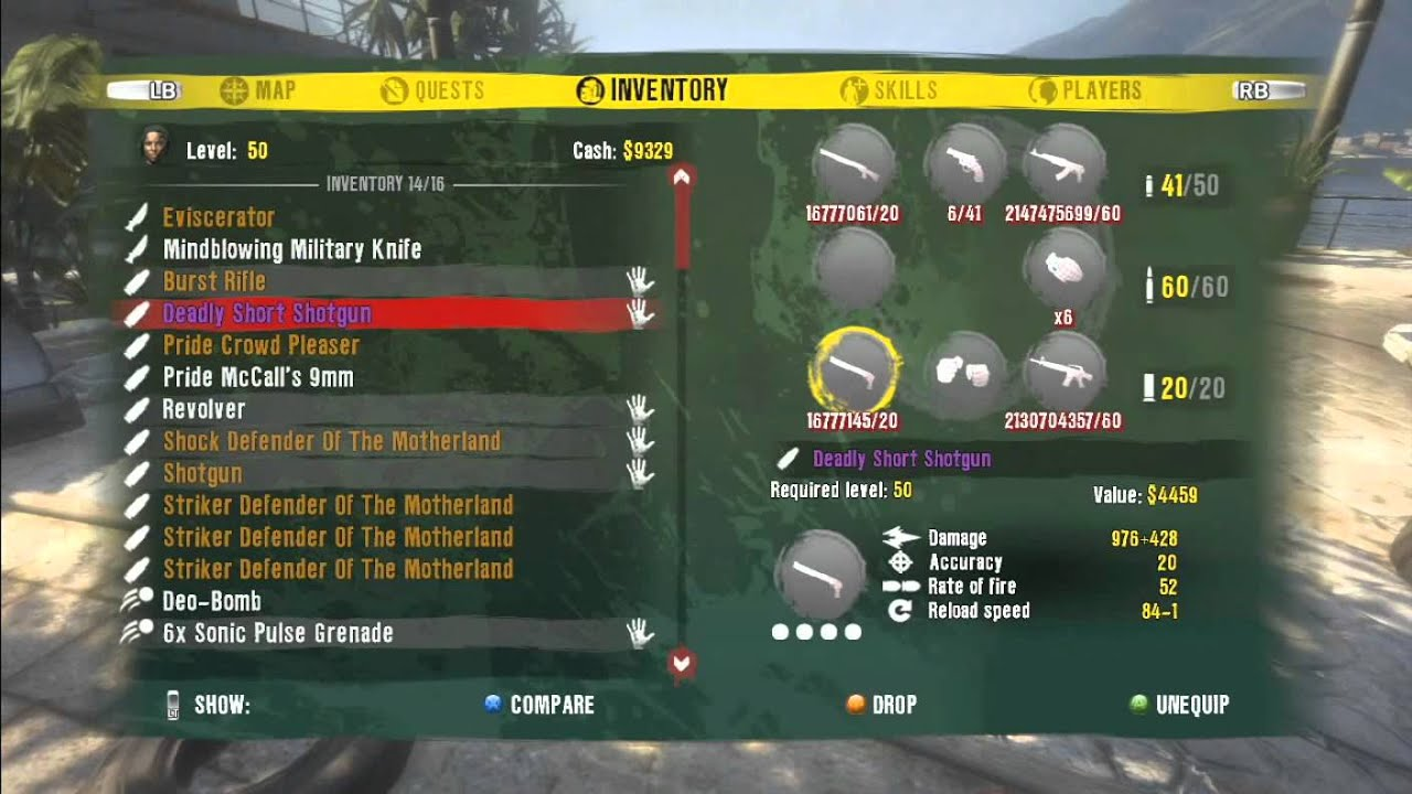 All Weapons For Dead Island On Xbox One