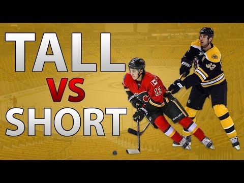 TALL NHL PLAYERS VS SHORT NHL PLAYERS! (NHL 18)