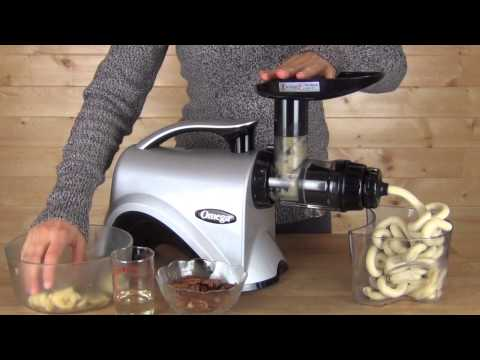 Omega NC800HDS Nutrition Center Homemade Banana Pecan Ice Cream Demonstration