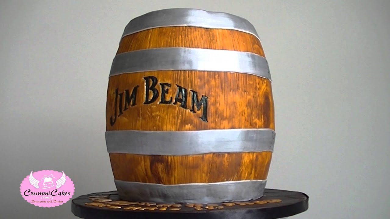 Jim Beam Barrel Cake By Crummicakes Youtube