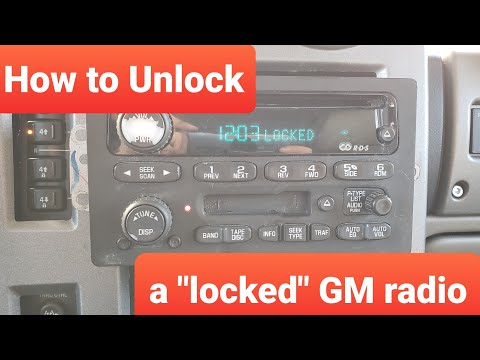 "How to fix ""locked"" gm radio yourself"