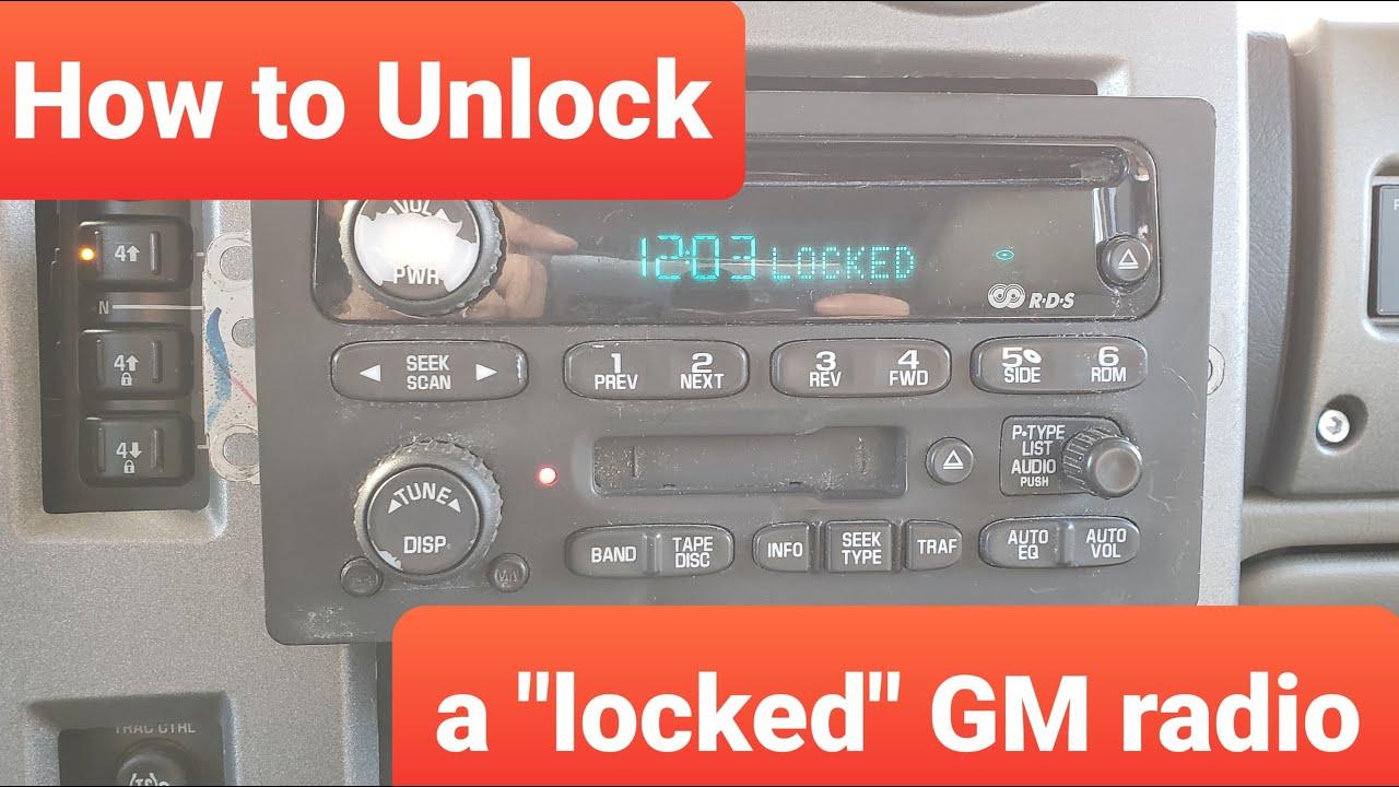 How To Fix Locked Gm Radio Yourself Youtube