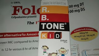 R.B.TONE Kid syrup ( खून बढ़ाने की दावा ) use side effects full hindi reviews campany medlive pharma