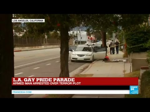 US - Heavily armed man arrested over terror plot at Los Angeles Gay Pride parade