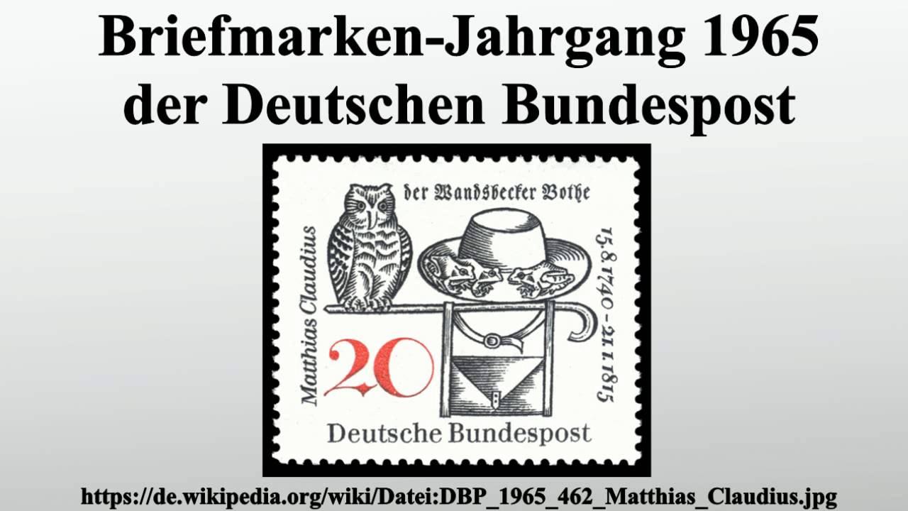 Briefmarken Jahrgang 1965 Der Deutschen Bundespost Youtube