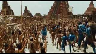 Templo y ceremonia maya en Apocalypto (Mel Gibson, 2006)