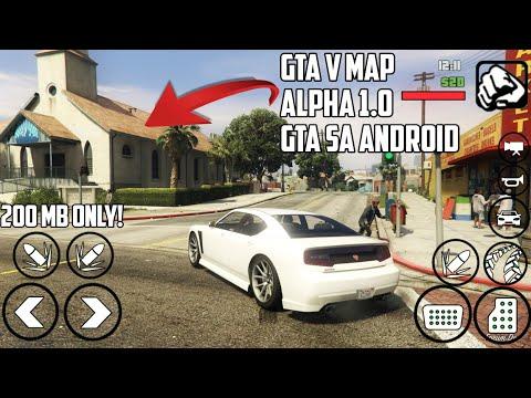 GTA 5 Android | GTA V MAP MOD V2.0  [200 MB ] For GTA SA ANDROID