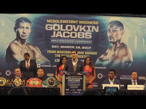 GGG VS JACOBS FULL PRESSER AND FACEOFF