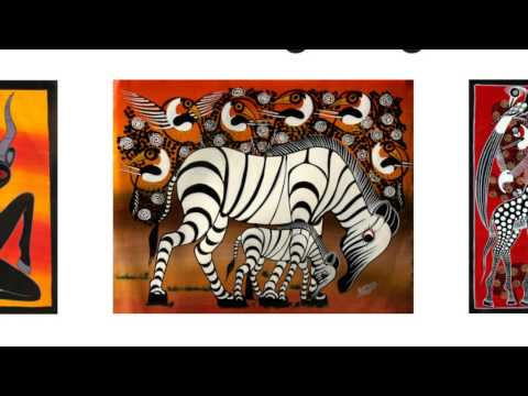 Tinga Tinga Paintings from Tanzania