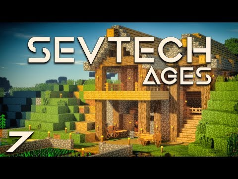 SevTech: Ages EP7 Building Day + Alloy Kiln