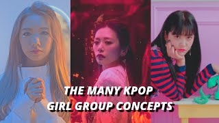 the many kpop girl group concepts